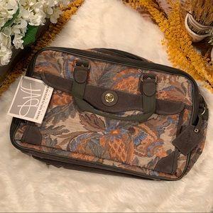 🆕 Diane von Furstenberg DVF Floral Luggage Vtg